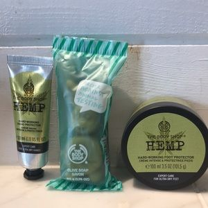 The Body Shop Olive Soap, Hemp Hand & Foot Cream